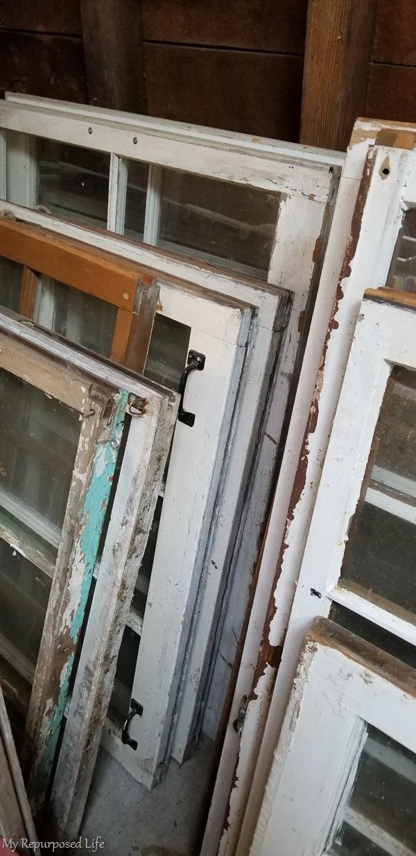 stash of old windows
