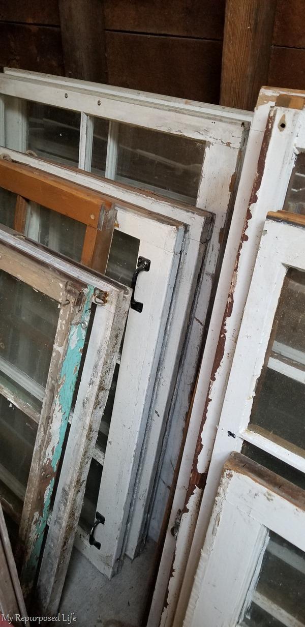 stash of old windows