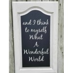 Cabinet Door Chalkboard Project