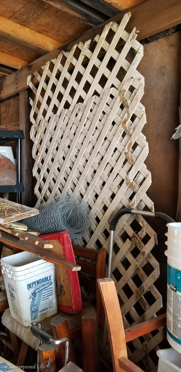 lattice in storage shed