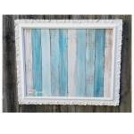 Easy Beachy Frame Using Reclaimed Wood