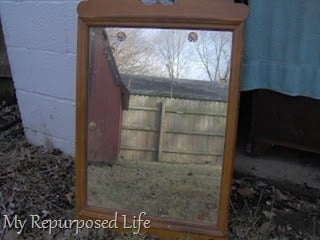 vintage thrift store mirror
