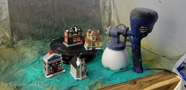how to paint a christmas village with a super finish max paint sprayer