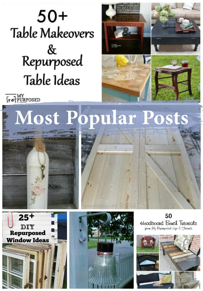 I've gathered the most popular posts and projects from the last year. The best thing about repurposed furniture? It's timeless. It's not going out of style anytime soon. #myrepurposedlife #repurposed #furniture #upcycle via @repurposedlife