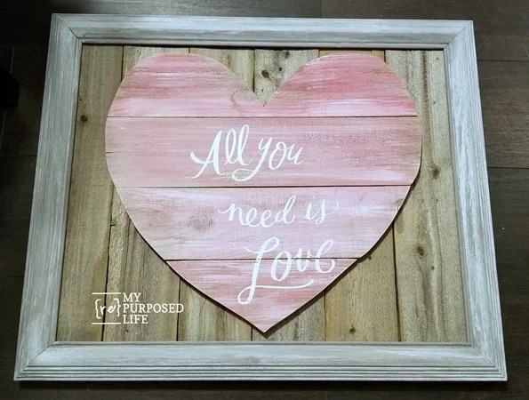 all you need is love reclaimed wood heart project MyRepurposedLife