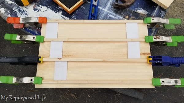 design stage of wooden letter board