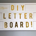 How to Make a Wooden Letter Board