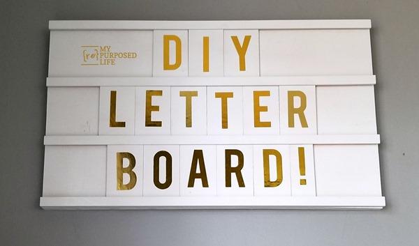 diy wooden letter board MyRepurposedLife