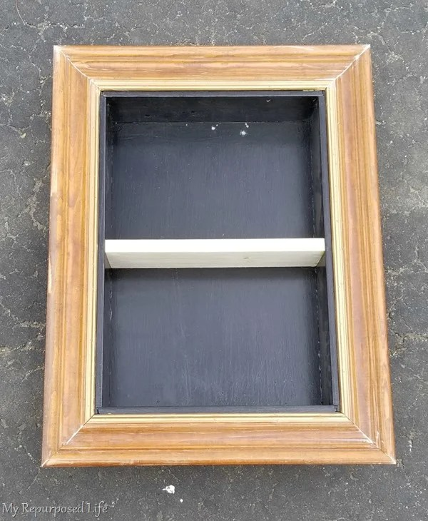 shadow box made from a drawer
