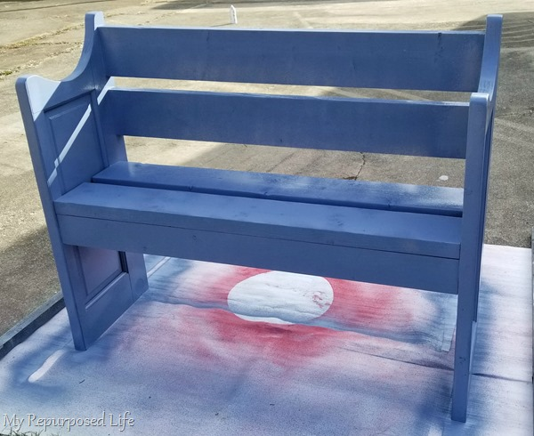 tip bench upright to finish painting