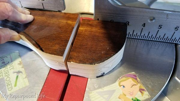 trim door panel on miter saw