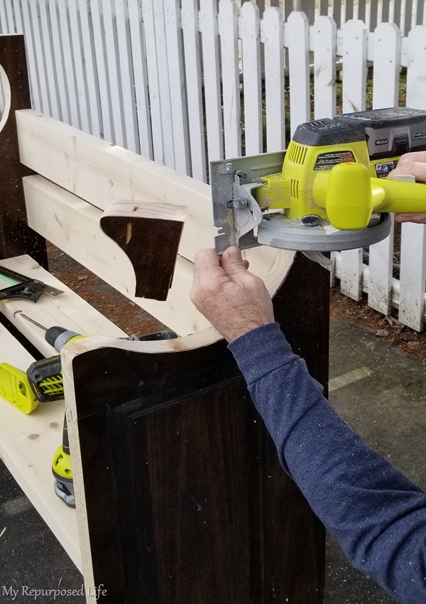 trim more off the back of the door bench to make it shorter