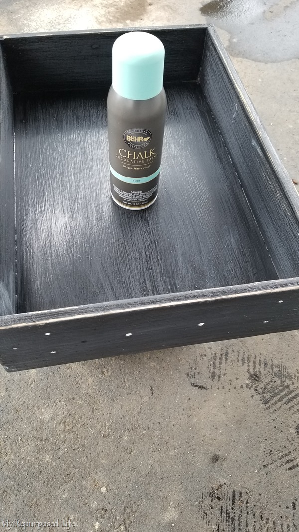chalk paint spray paint old drawer