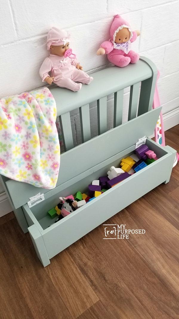 headboard toy box bench MyRepurposedLife
