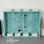 Repurposed Drawer Jewelry Organizer