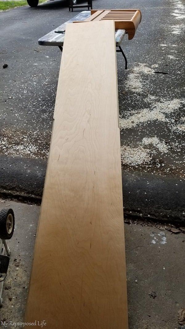 long narrow plywood