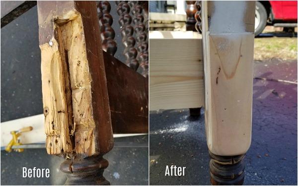 repair damaged bed post