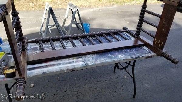spool bed bench progress