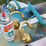 repurposed Brass Vanity Light
