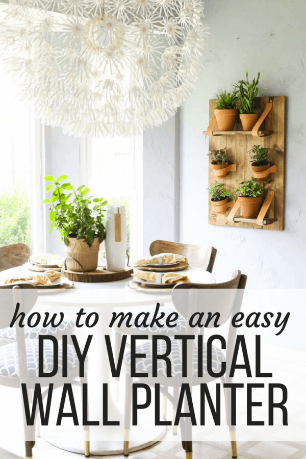 vertical wooden planter love and renovations