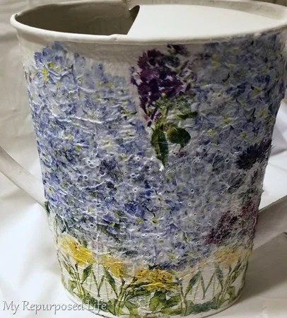 how to decoupage watering can project