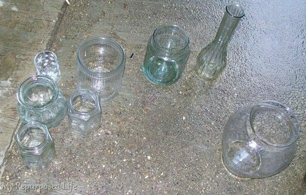 wash thrift store glassware