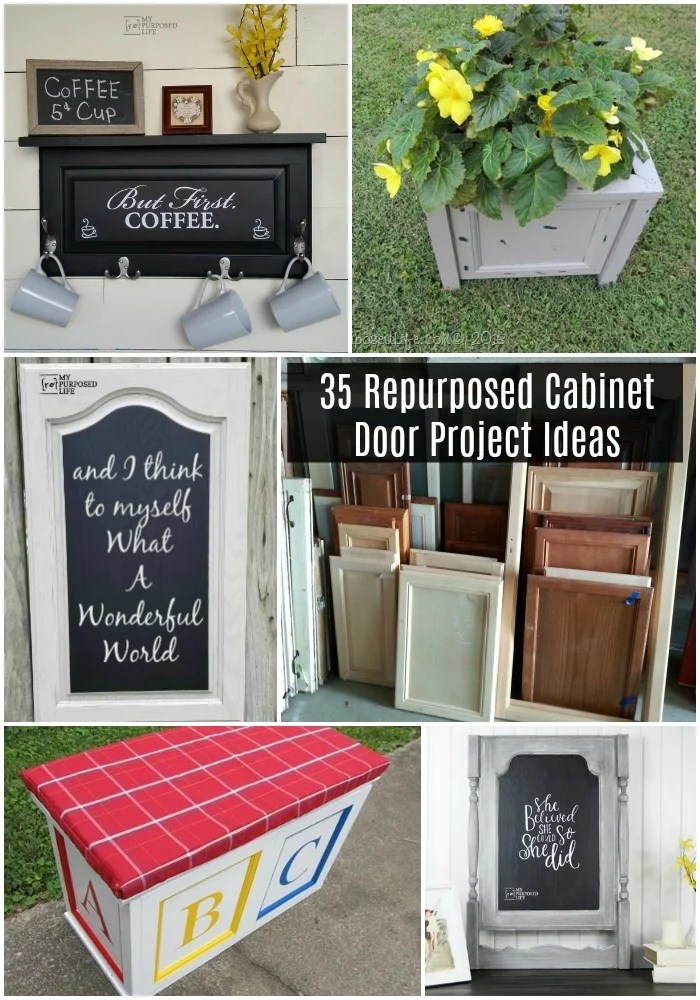 This collection of project ideas for repurposed closet doors is perfect for all levels of difficulty.  There is something for everyone, home decor, buildings and more.  #repurposed #cabinetdoor #project #diy #MyRepurposedLife #homedecor #cupboard #door #kids #pets via @repurposedlife