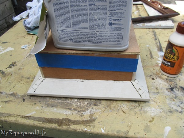 easy shadow box assembled with wood glue