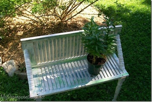 shutters and spindles plant bench