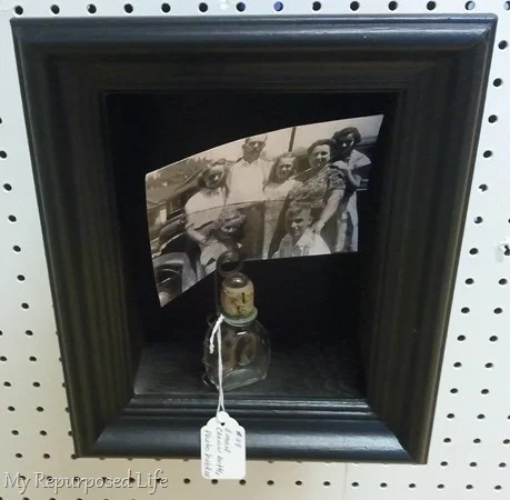 small black shadow box picture holder