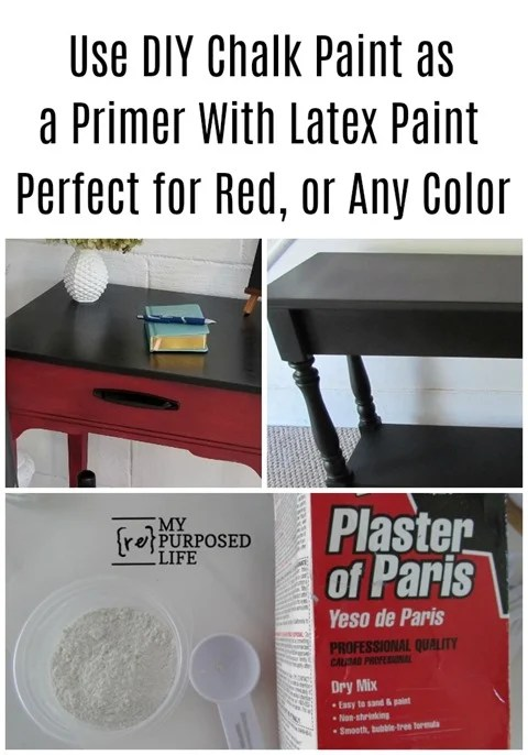 diy chalk paint as a primer | perfect for red paint