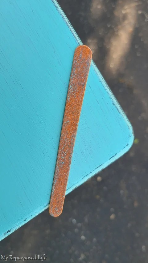 easy distressing with emery board