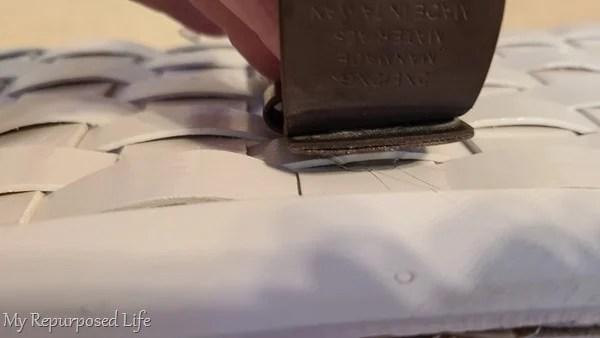 continue adding hot glue