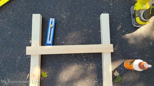 attach rungs to farmhouse ladder