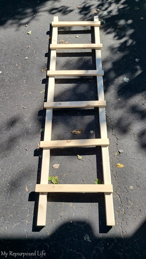 dry fit of farmhouse ladder rungs