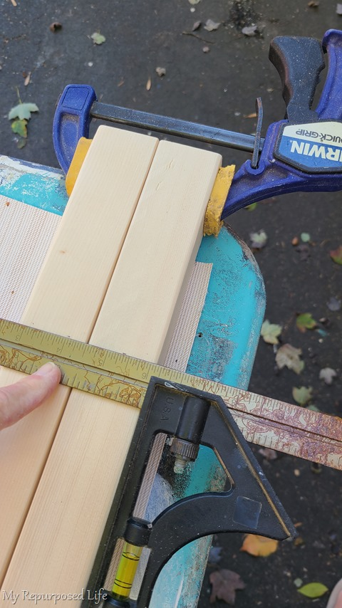 mark rungs on ladder rails