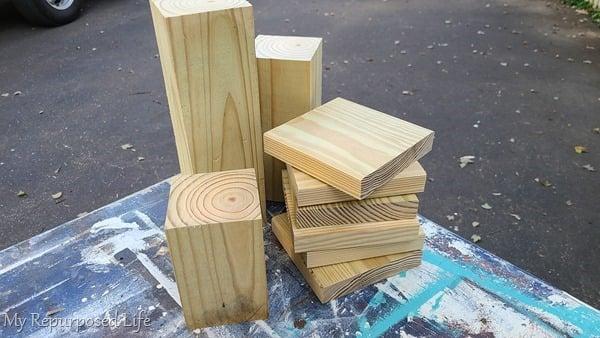 materials for easy 4x4 pedestals