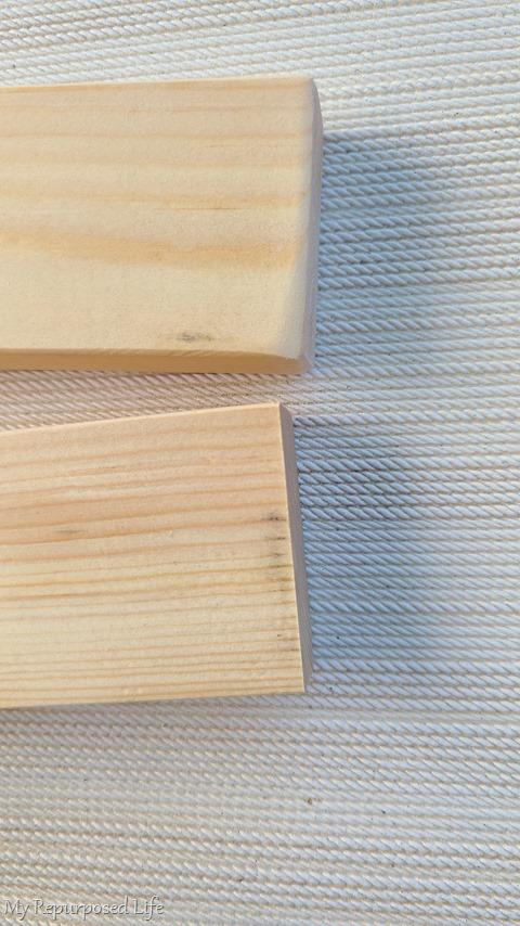 sand edge of lumber smooth