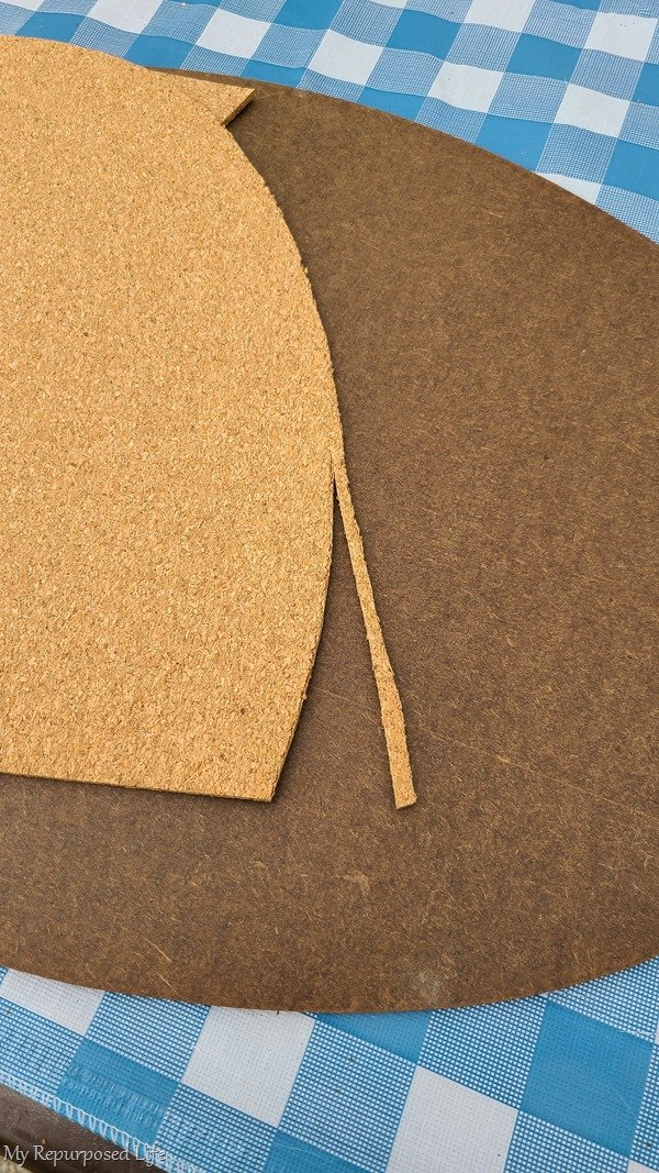 trim cork board