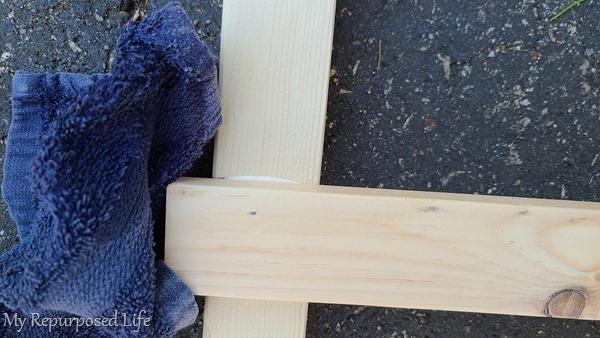 wipe away wood glue