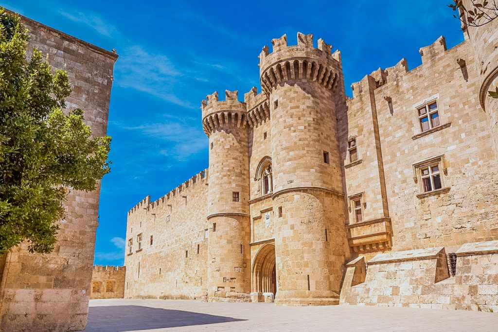 The Grand Master Palace in the medieval city of Rhodes Island