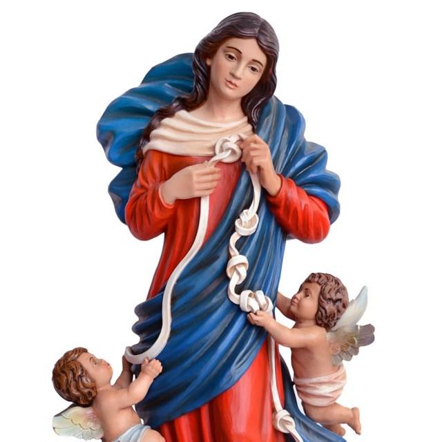 Statua Maria che Scioglie i Nodi alta 100 cm