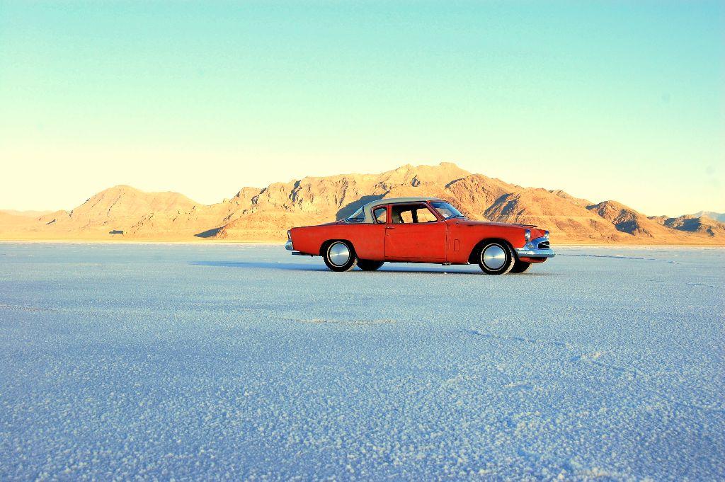 GreaseGirl's 1955 Studebaker on Bonneville Salt Flats