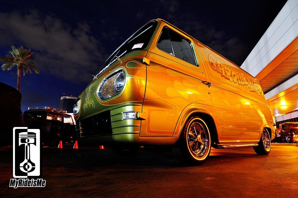 Metal Flake Gypsy Van Shines At SEMA Show 2013