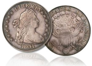 Top 10 Rare American Coins 1804 Draped Bust