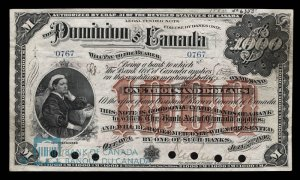 1896 Dominion of Canada Thousand Dollar Bill