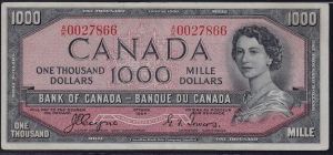 1954 Devil's Face Thousand Dollar Bill