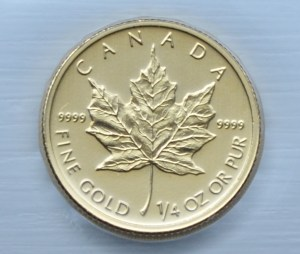 Buying gold Royal Canadian Mint 1:4 ounce fine gold 9999