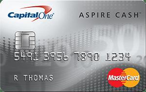 Capital One Aspire Cash Platinum MasterCard
