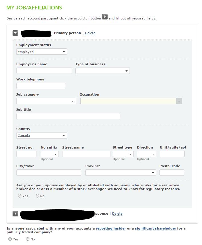Quested Job Affiliation form